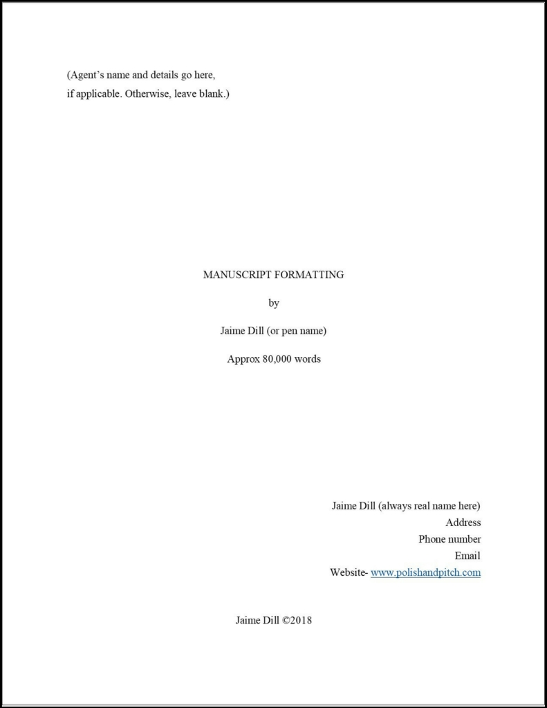 How to properly format your manuscript title page